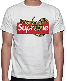 342bb38e5976 Beimpress T-Shirt Maglia Piton - Replica Supreme - Uomo Donna Unisex -  Bianca