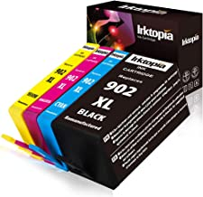 Inktopia Remanufactured Ink Cartridges for HP 902XL 902 XL (Updated Chip) for HP OfficeJet Pro 6978 6962 6968 6975 6960 6970 6950 6954 6979 6951 Printer (Black, Cyan, Yellow, Magenta)
