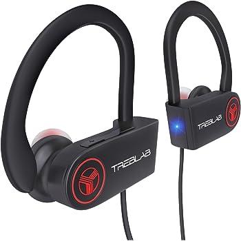 TREBLAB XR100 - Ergonomic Wireless Sport Earbuds. Bluetooth Running Headphones & Best Workout Headphones. Wireless Earbuds for Gym. HD Sound Mic for iPhone Android. Running Earphones 2019