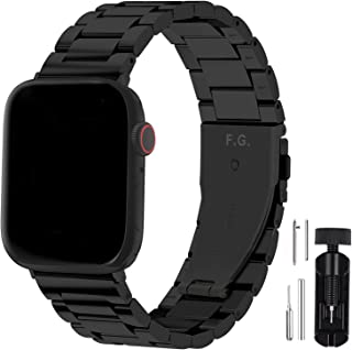 Fullmosa Compatible Apple Watch Band 42mm 44mm 38mm 40mm Series SE/6/5/4/3/2/1, Stainless Steel Metal For Apple Watch Stra...