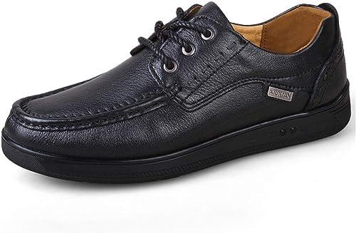 Easy Go Shopping Chaussures Chaussures Oxford pour Hommes Chaussures Formelles à Lacets Style Cuir Ox Rétro British Massage Outsole Chaussures de Cricket (Couleur   Noir, Taille   47 EU)  grandes marques vendent pas cher