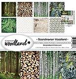 Reminisce (REMBC) Scandinavian Woodland Scrapbook Collection Kit, Multi Color Palette