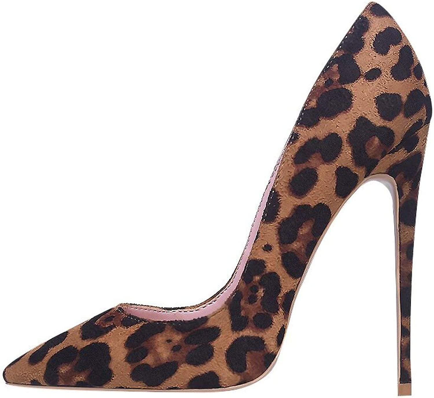 High Heels Pumps FLeopard Print Sexys 10 12cm Party Heeled Designer shoes Plus Big Size 11 12