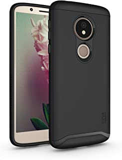 Moto G6 Play Case, TUDIA Slim-Fit Heavy Duty [Merge] Extreme Protection/Rugged but Slim Dual Layer Case for Motorola Moto G6 Play (Matte Black)
