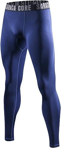 saraca core Men's Compression Pants Running Tights Athletic Leggings Thermal Baselayer