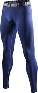 saraca core Men's Compression Pants Running Tights Athletic Leggings Cool Dry Baselayer
