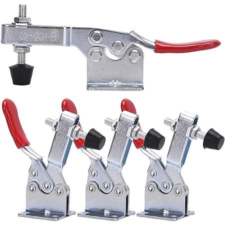 Nonslip Handle Short Bar Metal 91Kg Toggle Clamp Hand Tool
