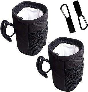KU Syang 2 st flaskhållare ryggsäck med 2 st krokar – flaskhållare för camping, vandring löpning – svart