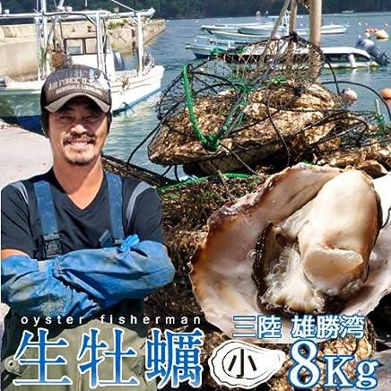 生牡蠣 殻付き 8kg 小 生食用 宮城県産 漁師直送 格安生牡蠣お取り寄せ