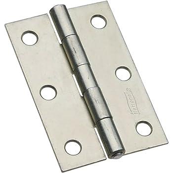 3 2 piece Stanley Hardware S752-390 840 Narrow Utility Hinge with Screws in Zinc