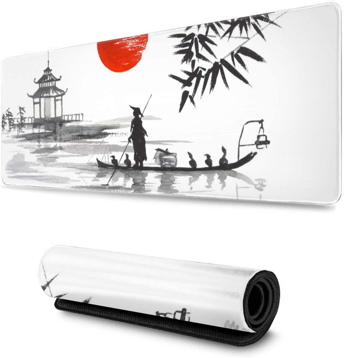 Max 52% OFF Selling and selling Japanese Painting Sumi-E Art Ink Long Gaming Mouse Extended Pad