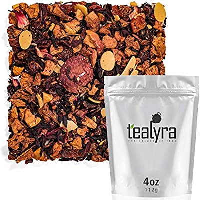 Tealyra - Strawberry Macaron - Hibiscus - Lavender - Almonds - Herbal Fruity Loose Leaf Tea - Caffeine Free - Calming and Relaxing - 112g (4-ounce) by Tealyra