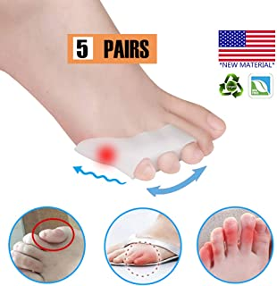 Pinky Toe Separator Tailors Bunion Pads, New Material, GEL Little Pinky Toe Protectors Sleeve for Tailor's Bunions, Curled Pinky Toes, Overlapping Toe, Blisters, Pain Relief from Friction (10PCS)