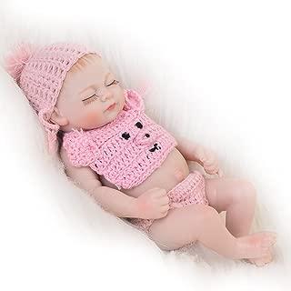 KEIUMI Little Peanut Reborn Baby Doll Sleeping Girl Full Silicone Vinyl 11 Inch Newborn Lifelike Babies Kids Birthday Gift