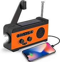 CrazyFire Emergency Radio,NOAA Weather Radio with LED Flashlight,SOS Alarm 2000mAh Phone Charger,Hand Crank Radio for Hurricanes,Storms and Earthquakes