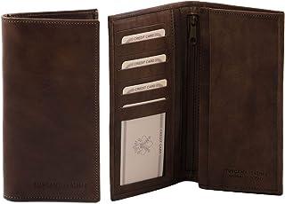 Tuscany Leather Esclusivo portafoglio verticale in pelle uomo 2 ante Testa di Moro