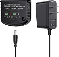 Powerextra 12V 14.4V 18V Dual Chemistry Battery Charger 90556254-01 for Black&Decker 9.6V-18V NiCad & NiMh Battery HPB18 HPB18-OPE FSB18 HPB14 FSB14 HPB12 FS12B