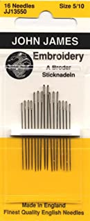Colonial Needle Crewel/Embroidery Hand Needles-Size 5/10 16/Pkg