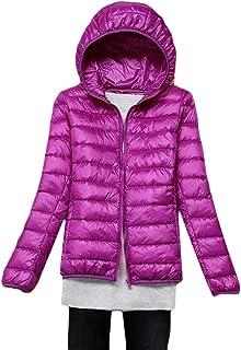 Macondoo Women's Hooded Outwear Packable Light Weight Jacket Puffer Down Coat