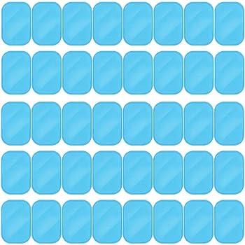 ジェルシートEMS 腹筋ベルト交換パッド 高電導パッド 40枚(20袋)入れ 腕筋 トレーニング 高耐久(4*6CM)
