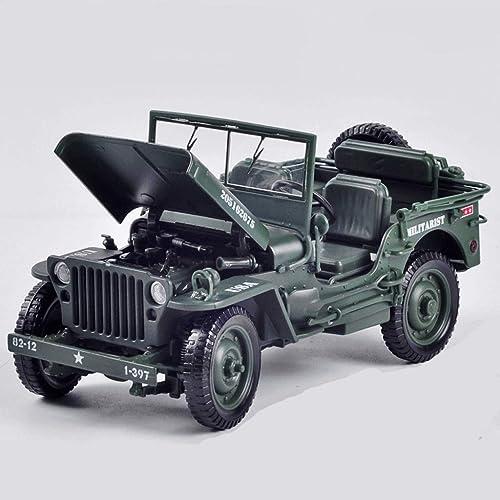te hará satisfecho GAOQUN-TOY Jeep táctico Militar Modelo de aleación 1 1 1 18 Vintage WWII Willis Military Car Toy Car (Color   verde)  tienda en linea