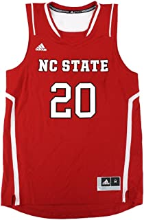 adidas NC State Wolfpack NCAA #20 Official Basketball Team Red Jersey Men's