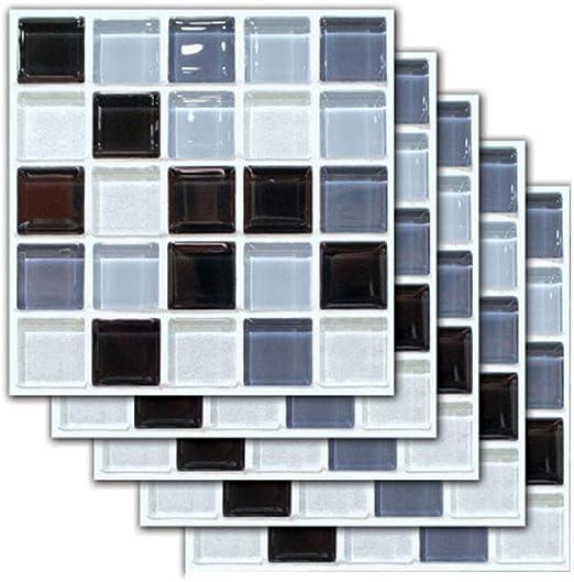 Ameublement Et Decoration Inmozata Lot De 10 Autocollants Autocollants Pour Carrelage Style Mosaique Maroc Pour Carrelage Mural Art Deco Diy Escaliers Pour Salle De Bain Cuisine 20 X 20 Cm Cuisine Et