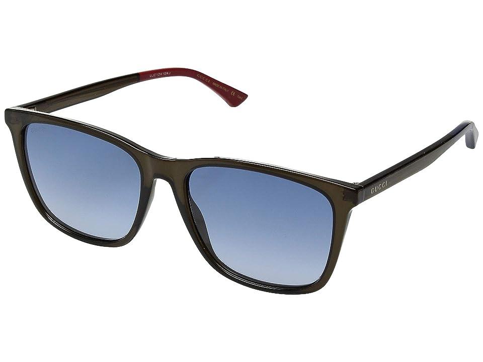 c55c22f4af Gucci GG0404S (Transparent Green Blue) Fashion Sunglasses