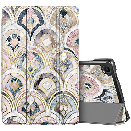 Fintie Slim Case for Samsung Galaxy Tab A7 10.4'' 2020 Model (SM-T500/T505/T507), Ultra Lightweight Tri-Fold Stand Protective Cover with Auto Wake/Sleep, Marble Tiles