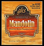 GHS Strings A240 Phosphor Bronze Mandolin Strings, Loop End, Ultra Light (.009-032)