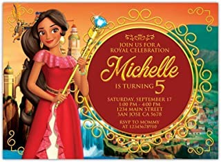 Custom Elena Of Avalor Birthday Party Invitations with White Envelopes
