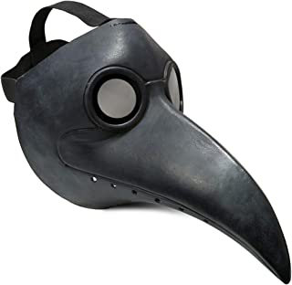 Townshine Plague Doctor Bird Mask Latex Long Nose Beak Cosplay Steampunk Halloween Mask Costume Props
