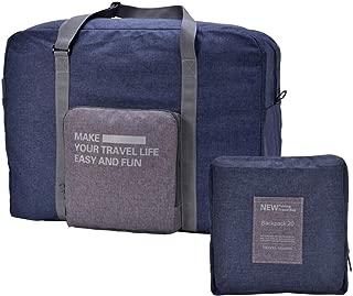 CAREMORE Unisex's Lightweight Fodable Waterproof Duffel Travel Bag Luggage Bag Large Capacity Blue