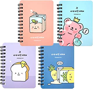 Convenience Store Food Design Ruled Stationery Mini Notebook Note Pad 1PC (Set of 4 (1ea))