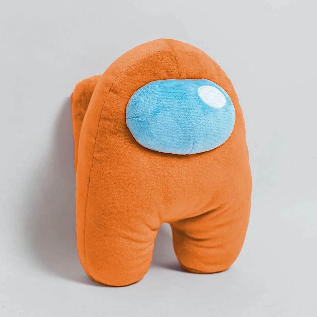 Crewmate Imposter Plushie Super Soft Orange Premium Size Cute Merch Gift for Game Fans and Kids 10 Inches Among Us Plush Toy