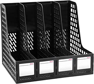 Leven Sturdy Magazine File Holder Desk Organizer File Folder for Office Organization and Storage with 4 Vertical Compartme...