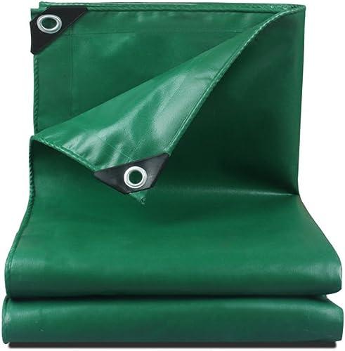 CLDBHBRK Duveteux Tissu de Pluie linoléum de Plein air Bouclier Solaire Tissu en Plastique imperméable, Crème Solaire, Patio Voiture, Un Camion Toile de Hangar Fil de Polyester Vert,300  500cm