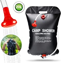 KIPIDA Solar Shower Bag for Camping,5 gallons/20L Solar Heating Shower Bag with Removable Hose and On-Off Switchable Shower Head,Camping Accessories for Camping Beach Swimming Outdoor Traveling Hiking