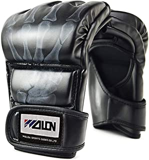 sparring Punch Sacco Guanti di addestramento MUAY THAI MMA PRO in Pelle Guantoni Da Boxe
