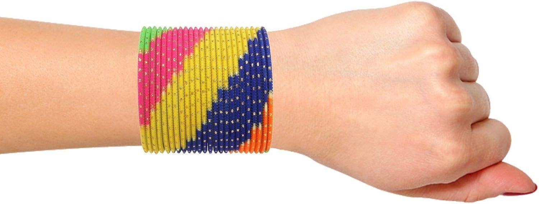 Efulgenz Indian Bangles Set Bollywood Plain Metal Bangle Bracelets Costume Jewelry for Women & Girls