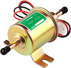 Electric Fuel Pump 12v Universal Inline Transfer Fuel Pump for carburetor Low Pressure Small Diesel Fuel Pump for Lawn Mover 2.5-4psi HEP-02A