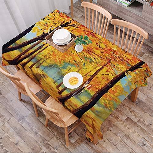 Rechteck Tischdecke140 x 200 cm,Indigo, moderne Streifen in Quadraten Form geometrische minimalistische,Couchtisch Tischdecke Gartentischdecke, Mehrweg, Abwaschbar Küchentischabdeckung für Speisetisch