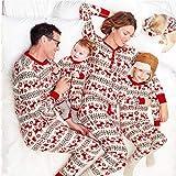 Familia De Navidad para Padres E Hijos Conjunto De Pijamas con Estampado De Dibujos Animados Mamá Papá Niño Ropa De Dormir para Bebés Ropa Informal para El Hogar-Hombres XXXL