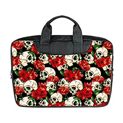 "JIUDUIDODO Custom Fantastic Skull Nylon Waterproof Bag Computer Bag Handbag for Macbook Air 11"" (Twin sides)"