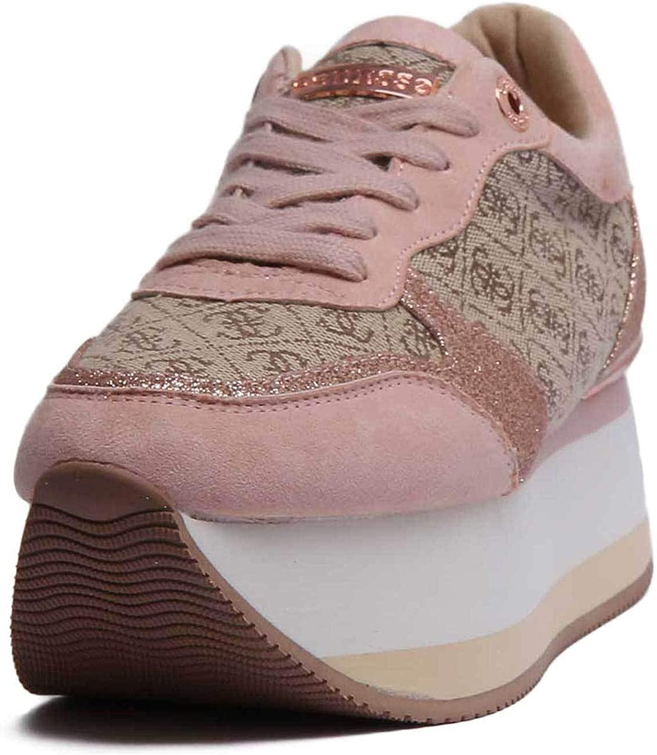 GUESS Fl5Hndfal12 Womens Synthetic Platform in Brown