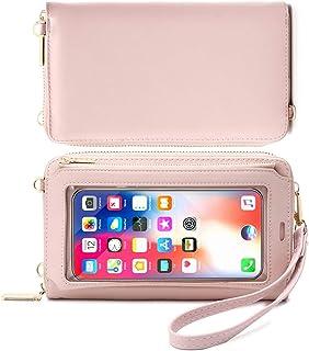 HAIWILL Handy Umhängetasche Damen Touchscreen Tasche Handy Wasserdicht Handtasche Schultertasche Leder Frauen Brieftasche ...