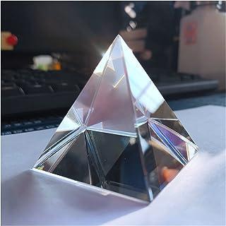 WHHHuan 1 pyramide de 40 mm en verre optique, prisme arc-en-ciel, pyramide rectangulaire polyédrique, population scientifi...