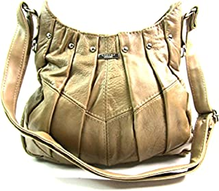 The Leather Emporium Ladies Leather Shoulder Bag (Fawn)