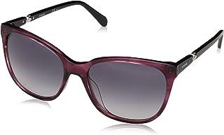 نظارة شمسية متدرجة عصرية شبه مربعة واي فيرير للنساء من فوسيل - (FOS 2047/S 0E9 55ZR|55| لون رمادي)