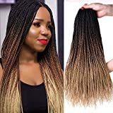 18 Inch 8Packs Senegalese Twist Hair Crochet Braids 30Stands/Pack Synthetic...